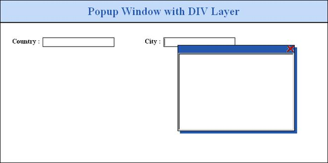 How to Popup a Window Using DIV Layer in ASP NET 1 x/2 x