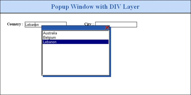 How to Popup a Window Using DIV Layer in ASP NET 1 x/2 x: ASP Alliance